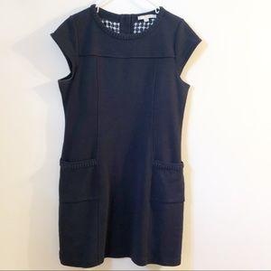 Boden navy dress pleated collar detail 14 EUC
